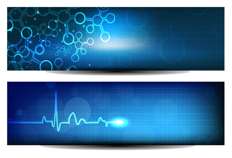 Website banner or header with shiny abstract design. EPS 10.
